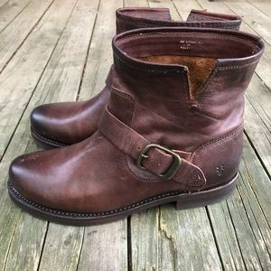 Frye Veronica Short Boots in Redwood NEW w/o tags